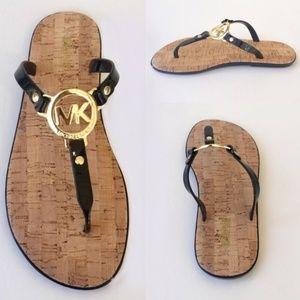 Michael Kors Jelly Flip Flop Cork Sandal